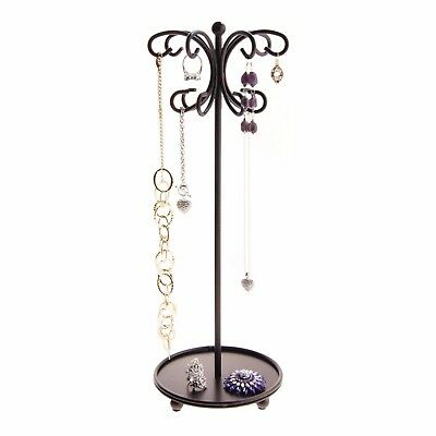 Necklace Holder Tree Stand Jewelry Organizer Hanging Bracelet Display - Bronze