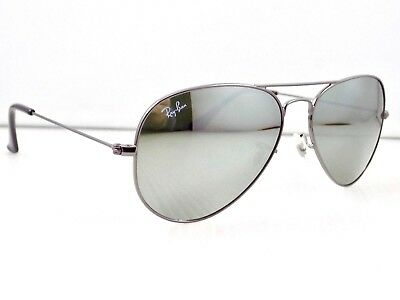 Ray Ban Small Aviator Mirror RB3025 004/40 55mm & Case