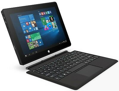 "Linx 10V64 10.1"" FHD Intel Quad Core 64GB 4GB Windows 10 Tablet Keyboard Dock"