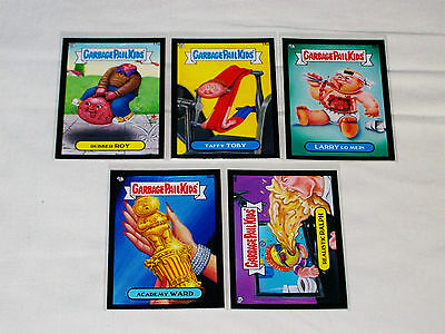 GARBAGE PAIL KIDS - 2012 - BNS 1 - BLACK Cards - Lot of 5 - 17a 18a 25a 26a 34b