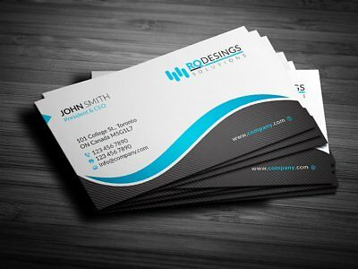 200 Business Cards custom printing one sided with Free Design.