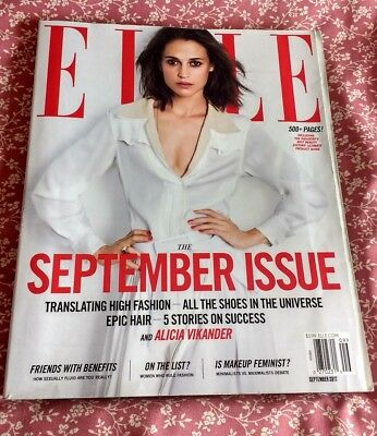 Elle US Magazine September 2017 Fall Fashion Issue 500+ Pages • Alicia Vikander