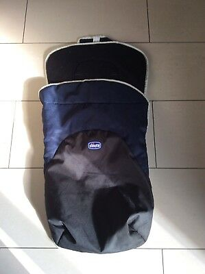 Babys Chicco navy blue/grey footmuff/cosytoes Free Uk Postage