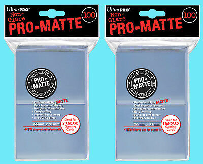 200 ULTRA PRO CLEAR PRO-MATTE STANDARD SIZE DECK PROTECTOR Card Sleeves Pokemon