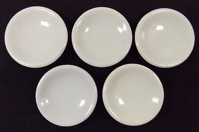 Lot of 5 Antique White Ironstone Butter Pats Great Condtion!!