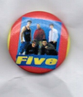 FIVE - BUTTON BADGE - 90s POP BAND 5IVE - INVINCIBLE - KINGSIZE - BOY BAND 25mm