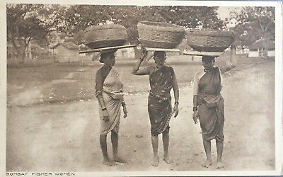 Cpa Inde Bombay Fisher Women Vintage Postcard