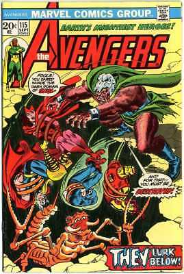 Avengers #115 VF+ 8.5 ow/white pages  They Lurk Below!  Marvel  1973  No Resv