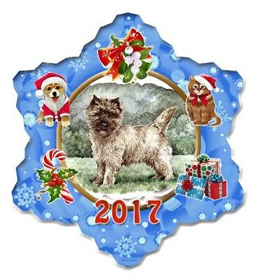 Cairn Terrier Porcelain Christmas Holiday Ornament - 2017