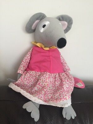 Lizzie Mouse Soft Plush toy From Bagpuss The Cat cuddly 12 inches tall b2