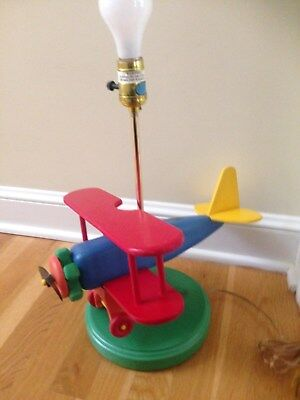 Airplane Childrens Table Lamp