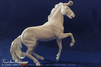 Traditional Size Artist Resin Mustang Stallion, TURBULENCE