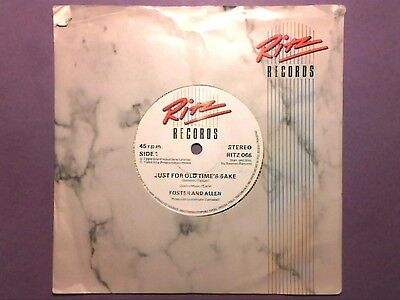 "Foster And Allen - Just For Old Time's Sake (7"" single) RITZ 066"