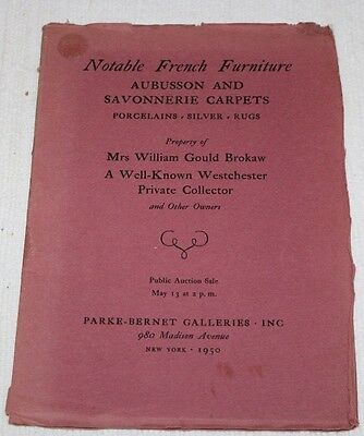 Mrs William Gould Brokaw Property, PARKE-BERNET GALLERIES, NY 1950 Catalog #1163