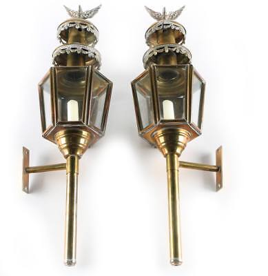 Eligant Gold colored Turkish Coach Lamps