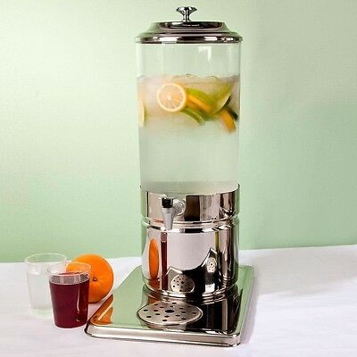 1.8 Gallon Stainless Steel and Polycarbonate Single Beverage Dispenser Ice Pack
