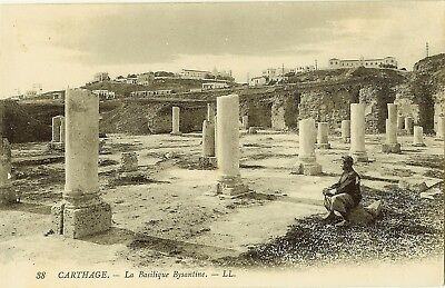 Cpa Tunisie Carthage La Cathedrale Bysantine