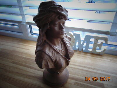 Vintage Plaster / Chalk-Ware  Bust Of A Middle Eastern / North African Woman