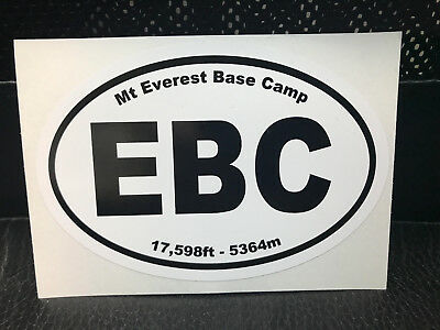 Mount Everest Base Camp Decal Sticker - Euro - EBC - Mt. Everest - Free Shipping