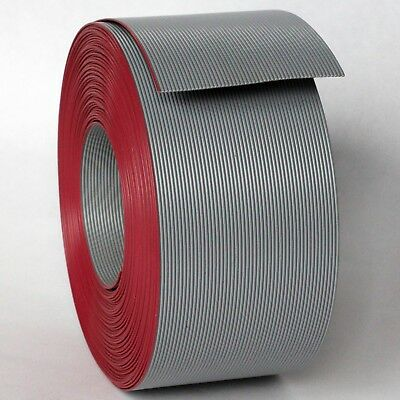 "13m IDC Ribbon Cable 50 Way 0.05"" Pitch Grey Red Pin 1"