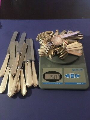 Scrap Or Not Antique Solid .925 STERLING SILVER Flatware Lot 1,507 Grams=44.8ozs