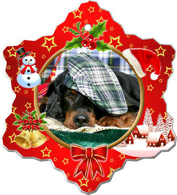 Gordon Setter Porcelain Ornament