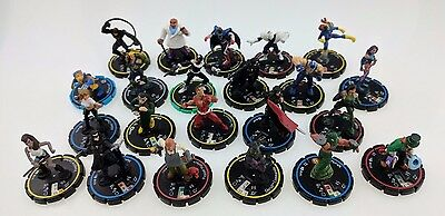 Lot of 22 Heroclix Figures Loose NO CARDS DC Marvel Wolverine Bullseye Hellcat