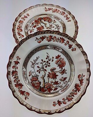 """Lot of 5 Copeland Spode India Tree Old Mark 6 1/2"""" Bread & Butter Plate Set BB"""