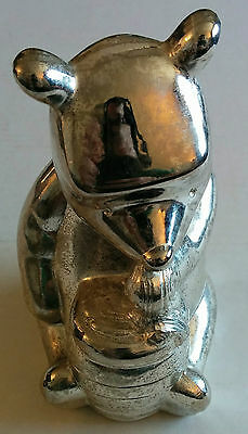Vintage Lunt Disney Pooh Bear Bank Silver-plated W661 Japan Honey