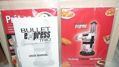 1 Bullet Express Trio English & French User Manual & Receipes Model BE-110C