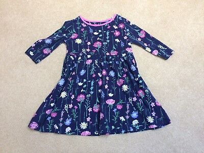 Joules Dress 4-5 Years, Navy Floral, Very Pretty