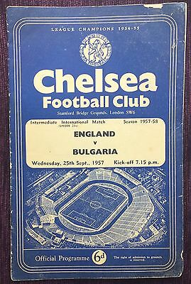 FOOTBALL PROGRAMMES 1957/58 ENGLAND V BULGARIA (U23s) JIMMY GREAVES DEBUT -INTER
