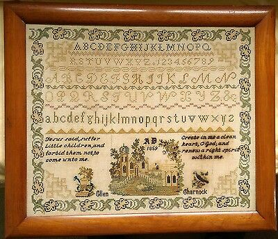 Classic English Sampler from 1859