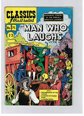 CLASSICS ILLUSTRATED COMIC No. 71 The man Who Laughs HRN 125