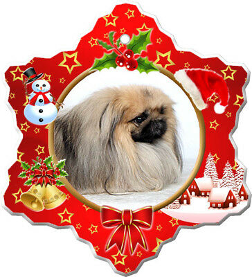 Pekingese Porcelain Ornament
