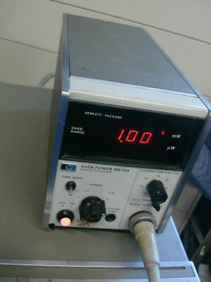 HP Agilent 432B power meter with 8120-1082 sensor cable included WORKING!