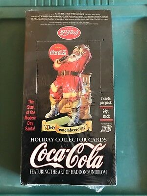 Coca Cola Coke Holiday Collectors Trading Card Box Factory Sealed New!