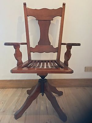 1920''s BLACKWOOD OFFICE CHAIR