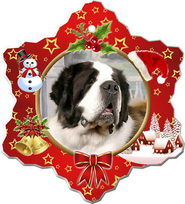 Saint Bernard Porcelain Ornament