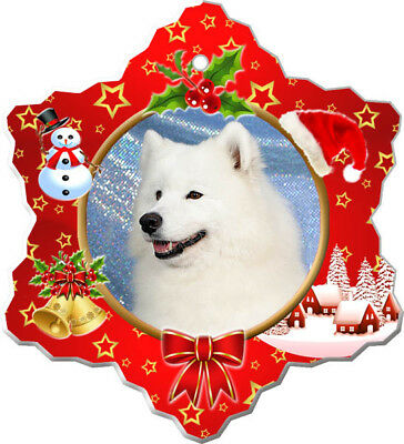 Samoyed Porcelain Ornament
