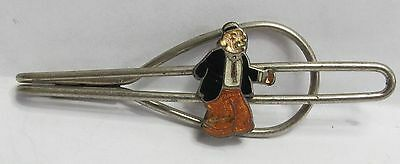 larger size 1930's WIMPY from Popeye enamel cloisonne tie bar clasp