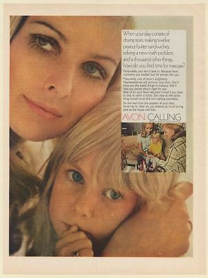 1969 Avon Calling Lady Cosmetics for Busy Mother Print Ad
