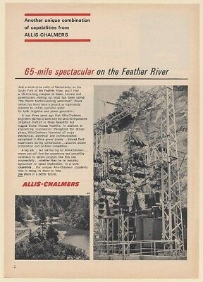 1965 Allis-Chalmers Power Plant South Fork of Feather River Watershed Print Ad