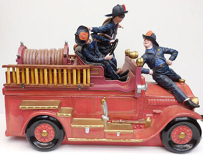 Three Stooges Fire Engine Cookie Jar, Vandor Company, Item #68042, Limited Ed