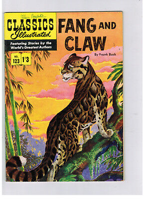 CLASSICS ILLUSTRATED COMIC No. 123 Fang and Claw HRN 126 NICE!