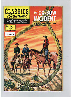 CLASSICS ILLUSTRATED COMIC No. 125 The Ox-Bow Incident  HRN 125 VERY NICE!