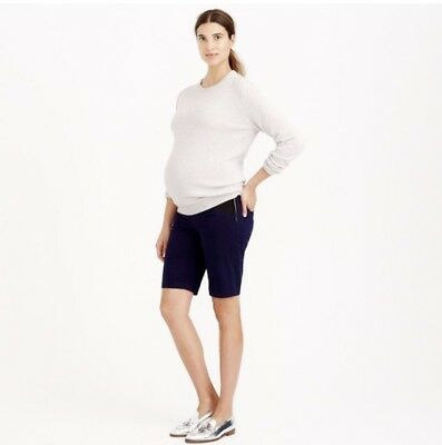 J.Crew Sold Out White Maternity Andie Shorts Size 8 Very Flattering!