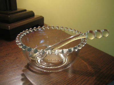 Candlewick Imperial Glass Mayo with ladle