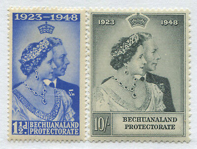 Bechuanaland Protectorate KGVI 1948 Silver Wedding set of 2 mint o.g.