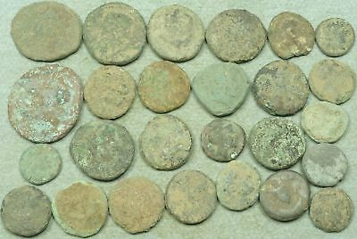 Lot Of 25 Uncleaned Greek Bronze Coins